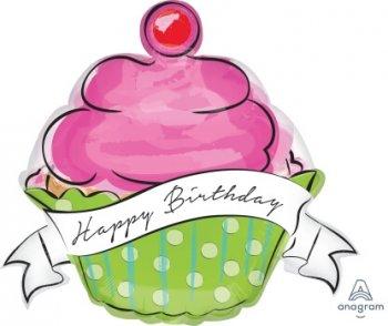 Birthday Sweets Cupcake Balloons P35-0