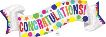 "Congratulations Banner Balloons 40"" P35-0"