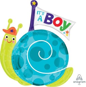 "It's A Boy Snail Balloons 29"" P35-0"
