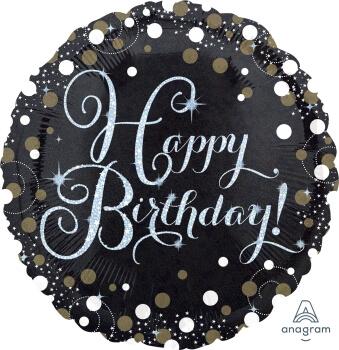 "Sparkling Birthday Balloons 18"" S50-0"