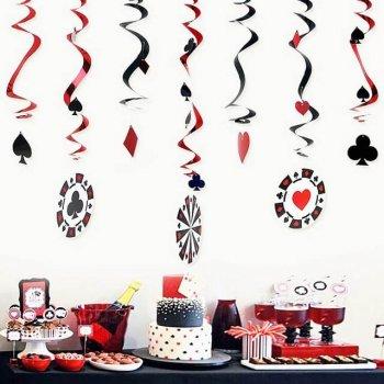 Casino Swirl Decoration - 9PC-0