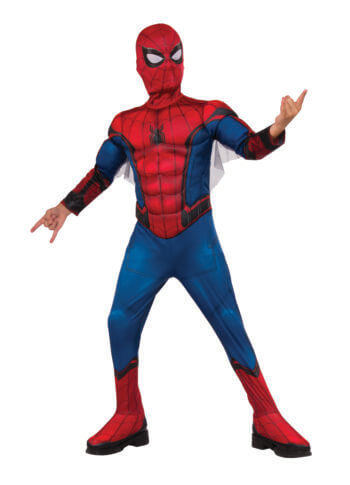 Kids Deluxe Muscle Chest Spiderman Costume-0