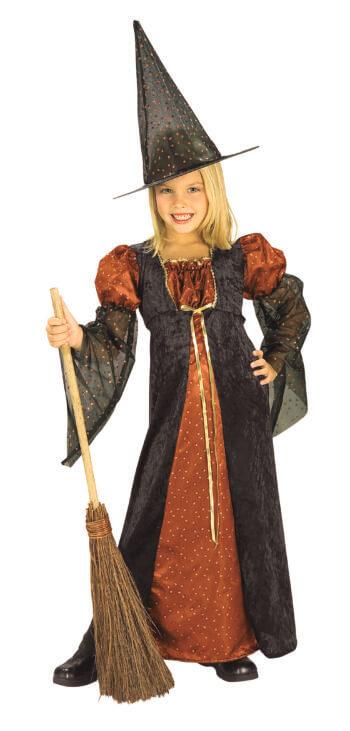 Girls Glitter Witch Costume-0