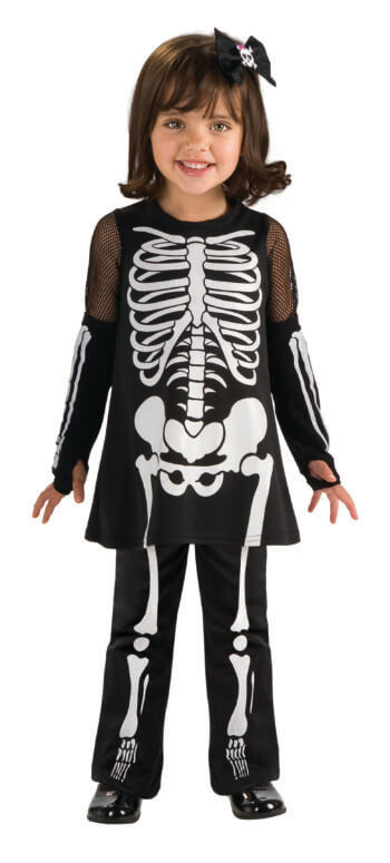 Toddler Skeleton Girls Costume-0