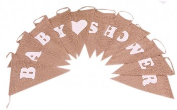 Baby Shower Burlap Banner - 6FT-0