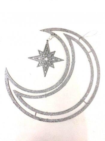 3D Moon & Star Hanging - 1PC-0