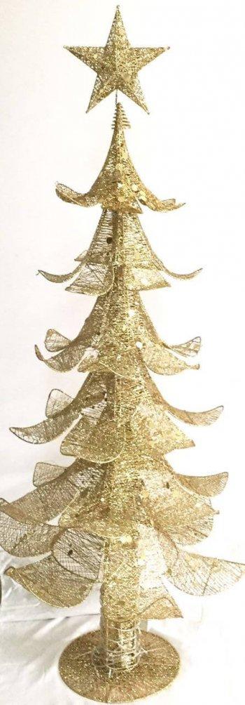 Golden Decorative Tree w/LED -0