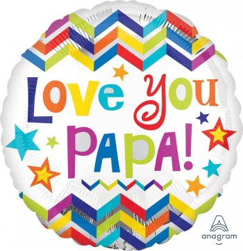 "Love You Papa Balloons 18"" S40-1PC-0"