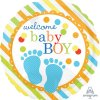 "Welcome Baby Boy Feet Balloons 18"" S40-1PC-0"