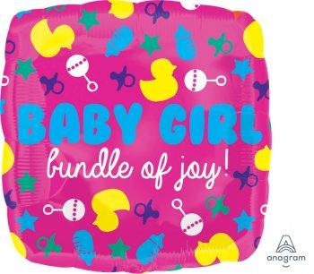 """Baby Girl Bundle of Joy Balloons 21"""" S70-1PC-0"""