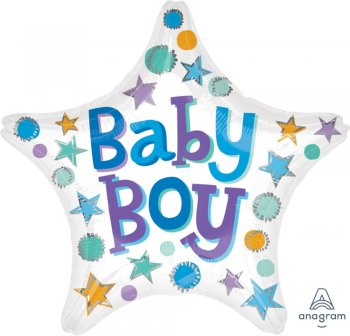 "Baby Boy Star Balloons 19"" S40-1PC-0"