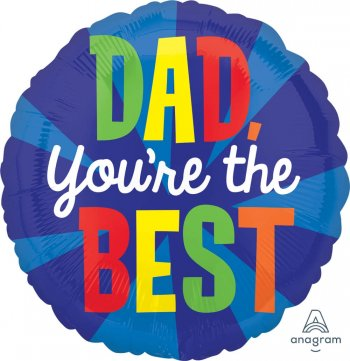 "Dad You're the Best Balloons 18"" S40-1PC-0"