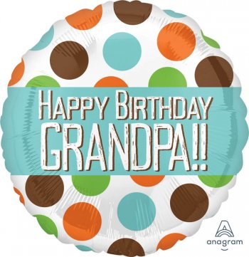 "Happy Birthday Grandpa Balloons 18"" S40-1PC-0"