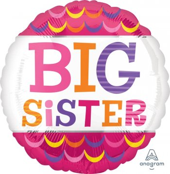 "Big Sister Scallops Balloons 18"" S40-1PC-0"