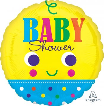"Baby Face Baby Shower Balloons 21"" S70-1PC-0"