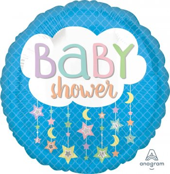 "Baby Shower Cloud Balloons 18"" S40-1PC-0"