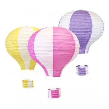 Hot Air Balloons Lanterns - Set of 3-0