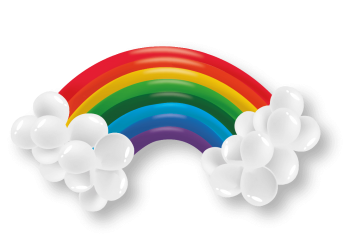 Rainbow Kit Balloons - 30 PC-0