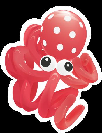 Octopus Balloons Kit - 10PC-0