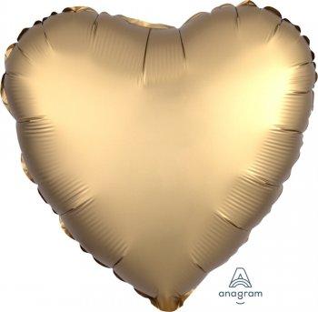 """Gold Heart Matte Balloons 18""""-0"""