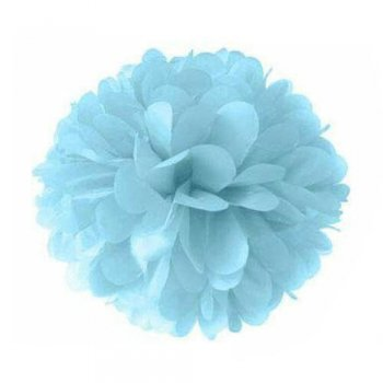 "Powder Blue Fluffy Decoration 12"" - 1PC-0"