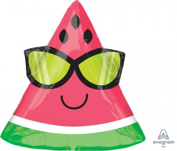 "18"" Fun In The Sun Watermelon Balloons S50-0"