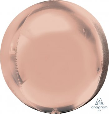 "Rose Gold Orbz Balloons 16"" G20-0"