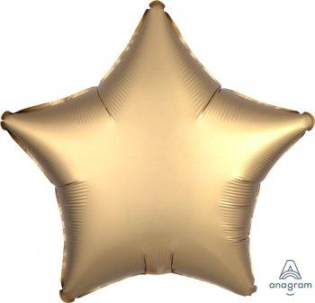 """19"""" Matte Gold Star Balloons S15-0"""