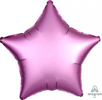 """19"""" Matte Flamingo Pink Star Balloons S15-0"""