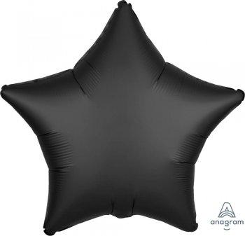 "19"" Matte Charcoal Black Star Balloons S15-0"