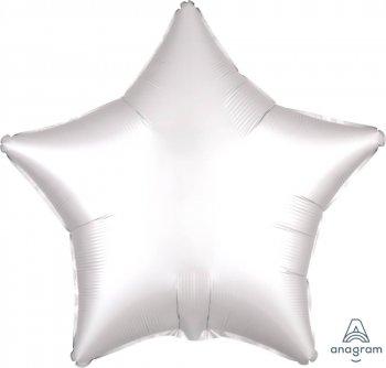 """19"""" Satin White Star Balloons S15-0"""
