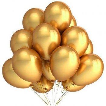 "11"" Chrome Golden Latex Balloons - 10PC-0"