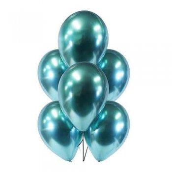 "11"" Chrome Green Latex Balloons - 10PC-0"