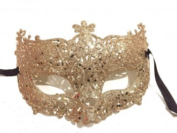 Glitter Fashion Eye Mask Rose Gold - 1PC-0