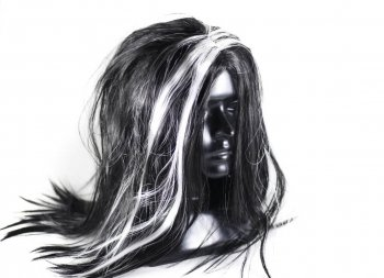 Witch Wig Black & White-0