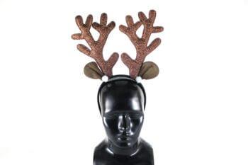 Antler Glitter Headband w/Ears-0
