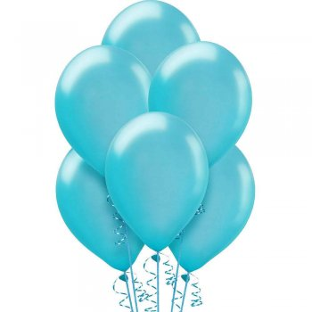 "12"" Sky Blue Latex Balloons - 20PC-0"