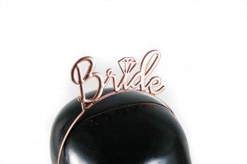 Bride Rose Gold Headband-0