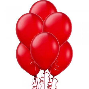 "12"" Brite Red Latex Balloons - 20PC-0"
