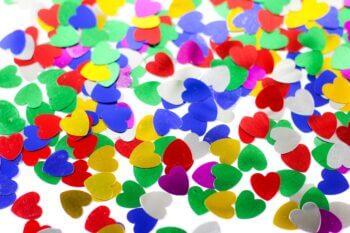 Colorful Heart Confetti-0