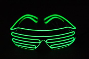 EL Wire LED Shutter Green Shades-0