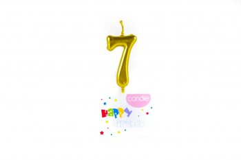 Golden Numerical Candle No. 7-0