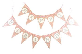 Happy Birthday Bunting Panner Pink - 10FT-0