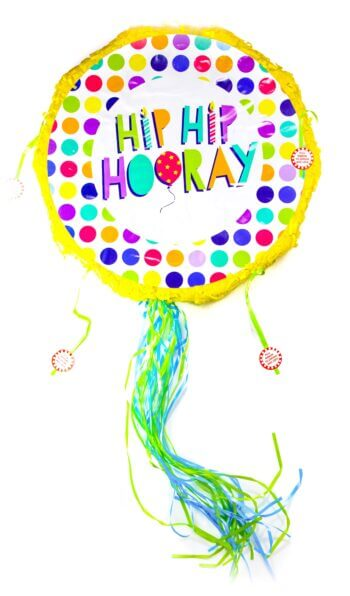 Hip Hip Hooray Foldable Pinata-0