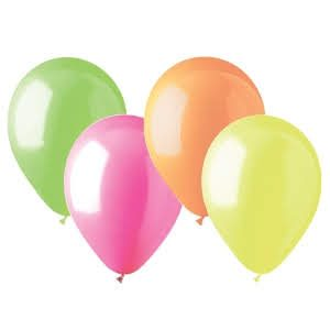 """12"""" Neon Balloons Assorted Color - 20PC (Glows in UV Light)-0"""