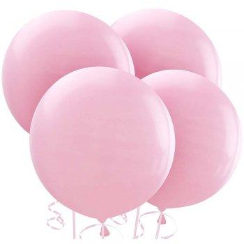 """36"""" Pastel Pink Bladder Balloons - 1PC-0"""