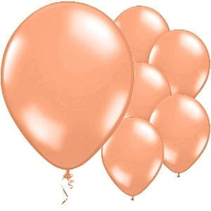 "12"" Peach Latex Balloons - 20PC-0"