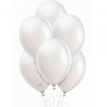 "12"" Pearl White Latex Balloons - 20PC-0"