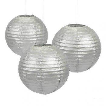 """Silver Lanterns 14"""" - 1PC-0"""