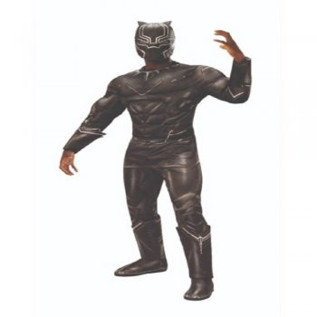 Deluxe Muscle Chest Adult Black Panther Costume-0